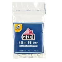 Фильтры для самокруток Gizeh Slim Carbon (120 шт.)