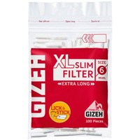 Фильтры для самокруток Gizeh XL Slim Extra Long (100 шт.)