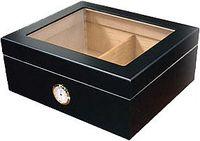 Хьюмидор Aficionado Chalet Glasstop Black на 50 сигар