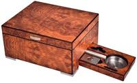 Хьюмидор Lubinski на 25 сигар QE2540 Вяз с подарочным набором