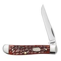 Нож перочинный Zippo Chestnut Bone Standard Jigged Mini Trapper 50568