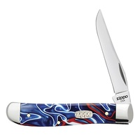 Нож перочинный Zippo Patriotic Kirinite Smooth Mini Trapper 50508