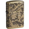 Зажигалка Zippo 49035 Armor™ Freedom Skull Design Antique Brass