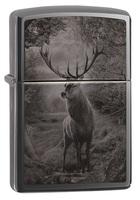 Зажигалка Zippo 49059 Deer Design Black Ice