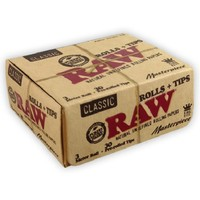 Бумага для самокруток Raw Rolls Classic Masterpiece King Size PRE-Rolled FTips