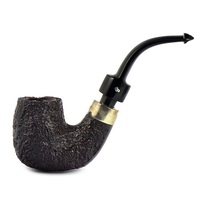 Курительная трубка Peterson House Pipe Sandblasted Bent P-Lip